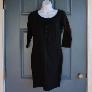 Black Cotton T Shirt Dress by DKNY Sz. S